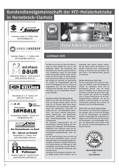 KLEINANZEIGEN - Gewerbeverein Herzebrock-Clarholz