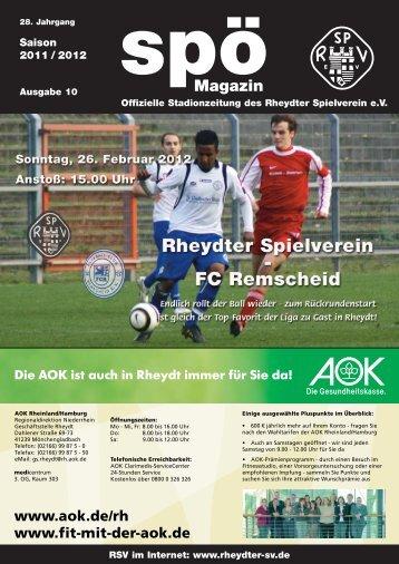 FC Remscheid 4c - beim Rheydter SV