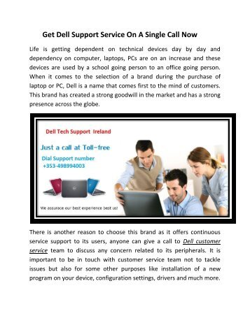 Get Dell support service on a single call now