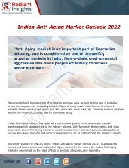 Indian Anti-Aging Market Overview and Trends Forecast 2022