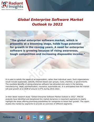 Global Enterprise Software Market Production, Sales & Forecast 2022