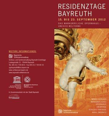 residenztage bayreuth - Das Bayreuth der Markgräfin Wilhelmine