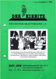 Zweiter Sieger beim Damen-Städtepokal 1995 des LV 4 - DSkV