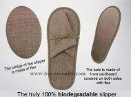 Biodegradable slipper