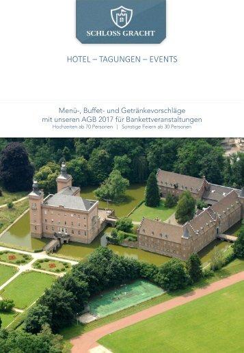 Bankettmappe Schloss Gracht