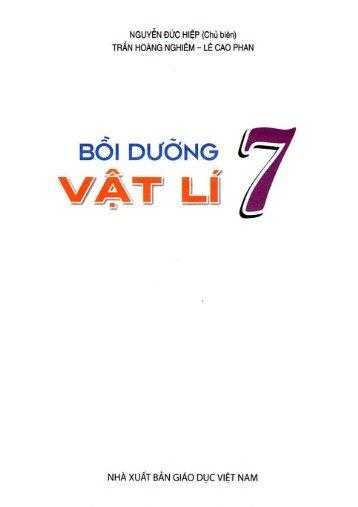 Bồi dưỡng học sinh giỏi vật lí 7-8 Nguyễn Đức Hiệp