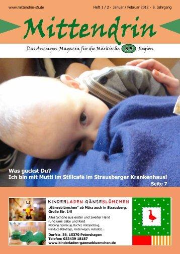Ausgabe Januar/Februar 2012 - mittendrin-s5.de