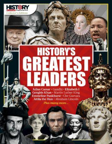 History Revealed Historys Greatest Leaders 2017