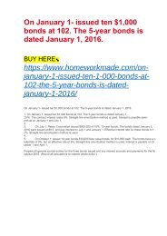 On January 1- issued ten $1,000 bonds at 102. The 5-year bonds is dated January 1, 2016.