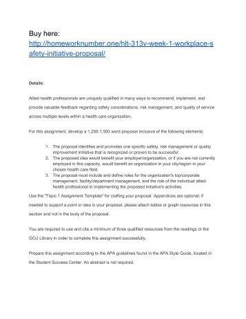 gcu apa template - hlt 313v week 3 the joint commission workplace violation