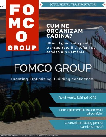 Revista Fomco Group - Cover 1