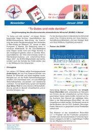 """Newsletter Januar 2008 """"Tu Gutes und rede darüber"""" - Umweltforum ..."""