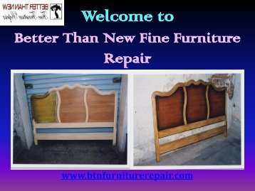 Affordable and Reliable Furniture Repair Gilbert| Better Than New