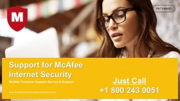 McAfee Internet Security Support Number 1800-243-0051 for Help