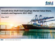 Aircraft Drive Shaft And Couplings Market Value Share, Analysis and Segments 2017-2027
