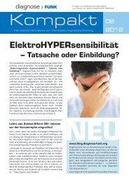 ElektroHYPERsensibilität - Diagnose Funk