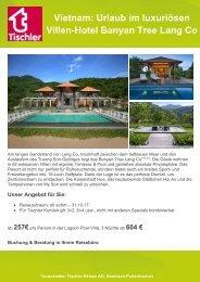 Vietnam: Urlaub im luxuriösen Villen-Hotel Banyan Tree Lang Co
