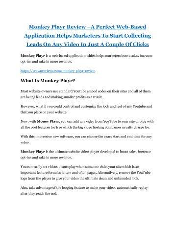 Monkey Playr review - Monkey Playr (MEGA) $23,800 bonuses