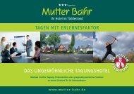 Tagungsprospekt Hotel Mutter Bahr 2017