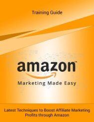 Amazon Marketing Made Easy - Training Guide