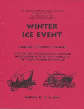 6012/2007 Winter Vituscan Turquoise To Tonopah & Tidewater History
