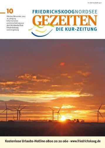 Ausgabe-Oktober/November-2012 - Gezeiten Friedrichskoog