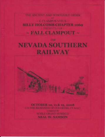 "6013/2008 Fall Clampout ""Nevada Southern Railway\"" History"