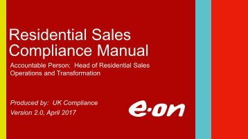 Residential Sales Compliance Manual 2017 v2.0[1]
