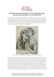 Teures Liebespaar und umkämpfte Modistinnen - Karl & Faber