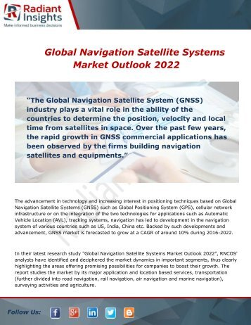 Global Navigation Satellite Systems Market Type and Application 2022