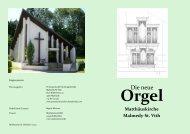 Festschrift zur Orgel - Protestantische Kirchengemeinde Malmedy ...