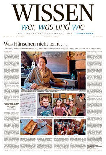 """Sonderveröffentlichung """"Wissen - Wer, was und wie"""""""