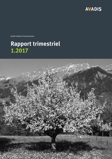 Rapport trimestriel 1.2017