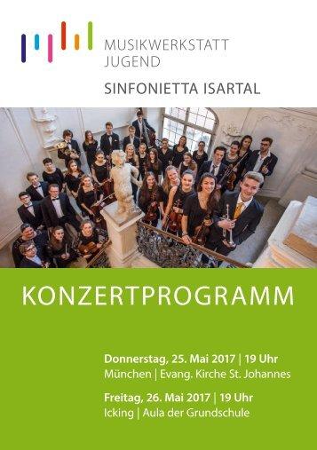 Sinfonietta Isartal, Programmheft Mai 2017
