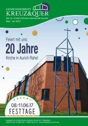 Gemeindebrief Kreuz&Quer Mai bis Juli 2017