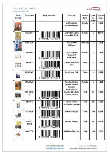 Market Ürünleri Bayi Fiyat Listesi (3)