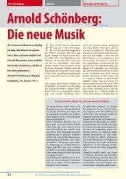 Fin de Siècle Arnold Schönberg Musik