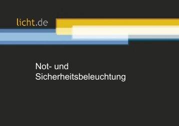 Präsentation: Not- und Sicherheitsbeleuchtung