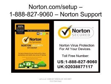 Norton.comsetup - 1-888-827-9060 - Norton com setup