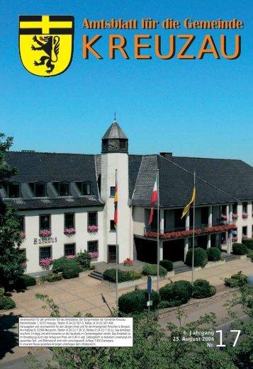Amtsblatt Nr. 17/2006 vom 25.08.2006 - Gemeinde Kreuzau