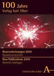 Neuerscheinungen 2010 - Verlag Karl Alber