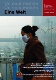 Ohne gesunden Planeten kein Wohlergehen ... - Deza - admin.ch