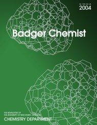 Badger Chemist - Department of Chemistry - University of Wisconsin ...
