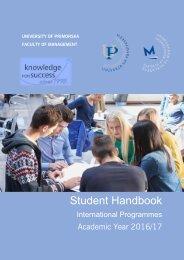 Student handbook 2016-17