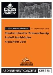 3. Abonnementkonzert - Konzerte an Sankt Andreas