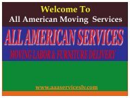 Businesses Moving in Las Vegas|  All American Services