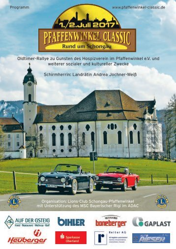 Oldtimer-Rallye Pfaffenwinkel-Classic 2017 - Programmheft