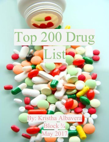 Top 200 Drug List Book