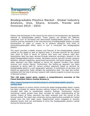 biodegradable plastics essay Plastics what use is plastic  no, polythene bags are not biodegradable 6 mark letter/essay/leaflet/poster according to the science students have used to.