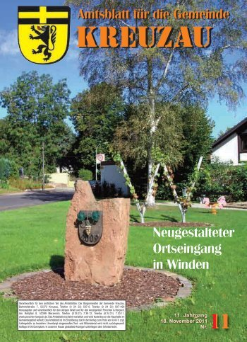 Amtsblatt Nr. 11/2011 vom 18.11.2011 - Gemeinde Kreuzau